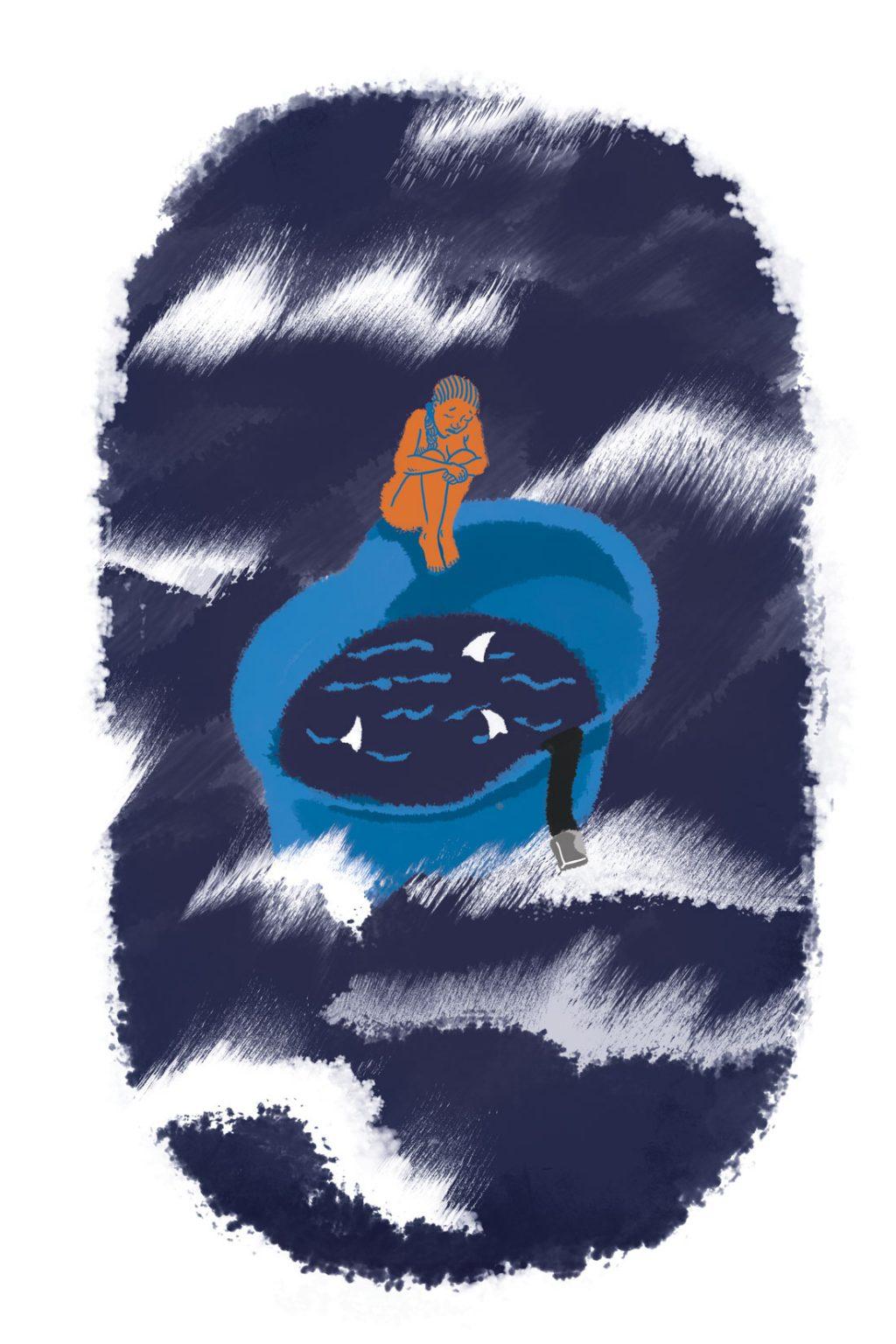 Illustration d'un texte sur les abus sexuels perpétrés par les Casques Bleus pour l'Esprit Libre