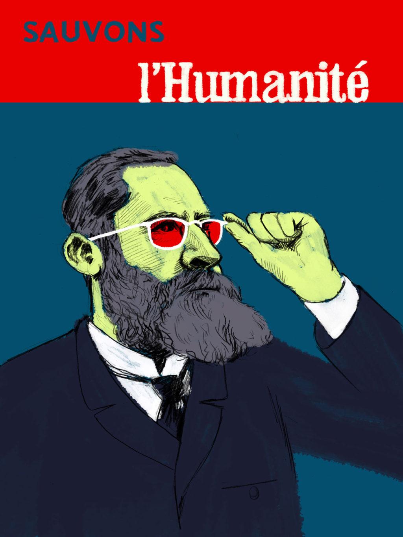 Portrait de Jean Jaurès pour le journal L'Humanité (France)