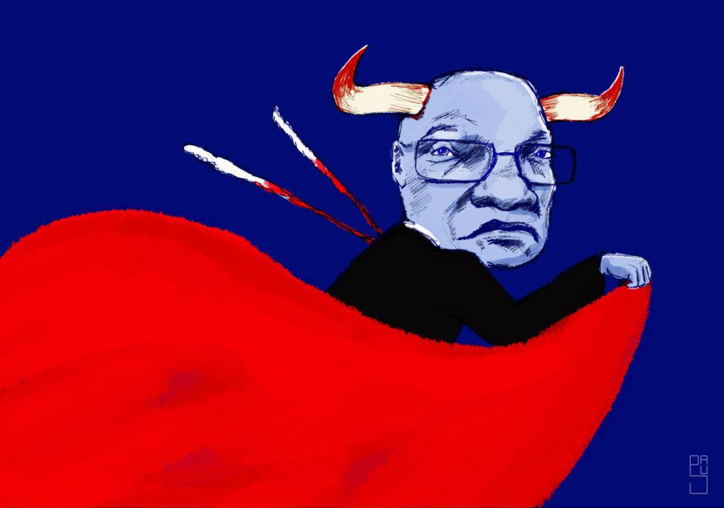 Portrait de Jacob Zuma, ancien président d'Afrique du Sud