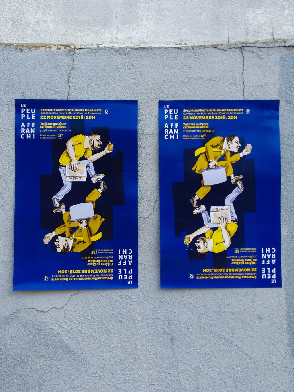 Affiche pour la soirée bénéfice des Affranchis (Point de Rue, Trois Rivières)