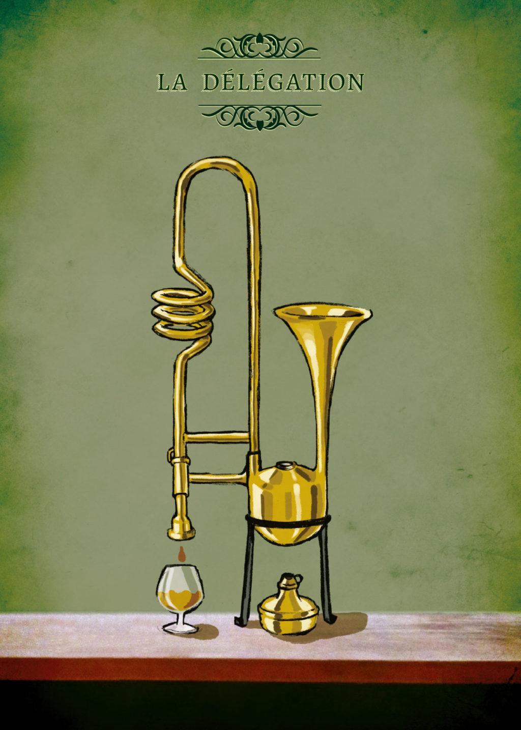 Illustration pour le groupe la Délégation