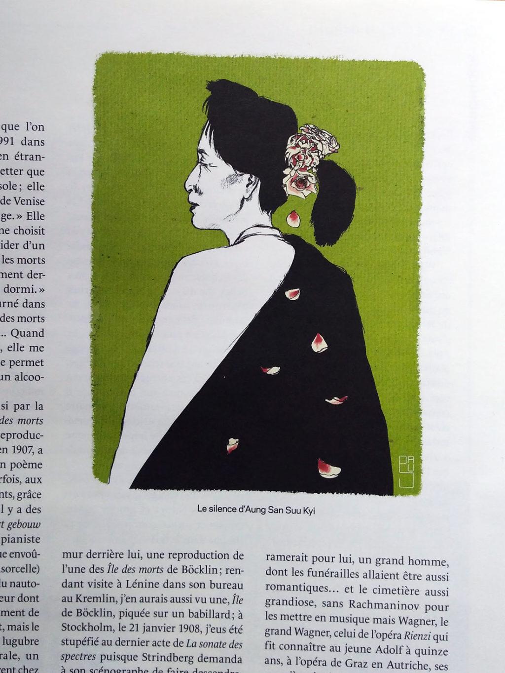 Portrait de la dirigeante Birmane pour la revue Liberté